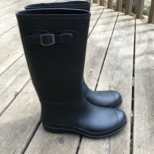 Kamik Black Rain Boots - EUC!